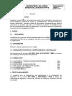 Descripción de cargo Director Administrativo