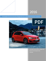 European Environmental Regulations in the Automotive Industry