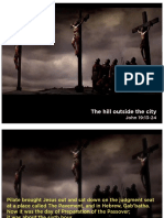Crucifixion outside the city
