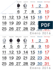 Calendario Media Carta 2016