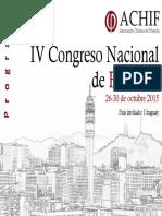 PROGRAMA IV Congreso Nacional de Filosofia ACHIF
