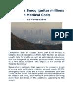 California Smog Ignites Millions in Medical Costs