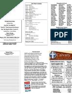 Calvary Bowling Green 4-25-2010 Bulletin