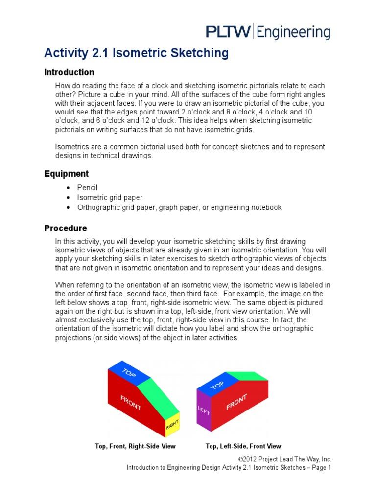 2 1 A Isometricsketching Technical Drawing Communication Design