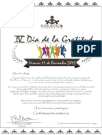 Invitacion de Gratitud Hombres
