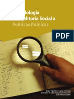 Metodología Auditoria Social a Políticas Públicas