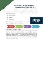 Como Resolver Un Problema Mediante Programación Lineal