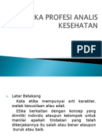 Etika Profesi Analis Kesehatan