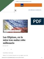 Las Filipinas, En La Mira Tras Audaz Robo Millonario _ La Nación