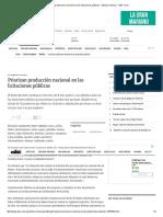 Priorizan Producción Nacional en Las Licitaciones Públicas - Edicion Impresa - ABC Color
