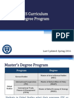 2016-1 Intro to GSIS Curriculum for MA Program