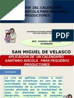 Aplicacion de Calendario Sanitario Avicola