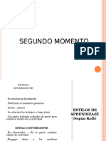 Descripción Estilos de Aprendizaje 2do Momento Inducción Sena