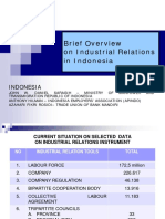 Industrial Relations in Indonesia
