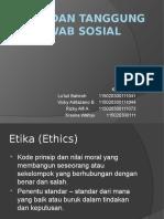 Etika Dan Tanggungjawab Sosial