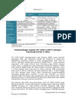 3DMark Benchmark, HP 1000 vs Samsung Series 5