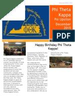 ptk december newsletter