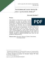 O Sujeito Homossexual Como Tema de Aula Limites e Oportunidades Didáticas
