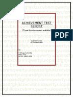 87669324 Final Achievement Test Report