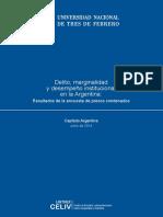 Delito, marginalidad y desempeño institucional en la Argentina