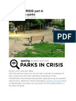 PARKS in CRISIS Part 4 - A Tale of Two Parks