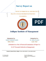 Survey Report on Sole Proprietor