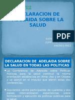 Declaracion de Adelaida Sobre La Salud