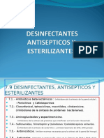 20-7.9.- Antisepticos ,Desinfectantes y Esterilizantes .