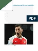 5 Ngôi Sao Sắp Được Arsenal Gia Hạn Hợp Đồng