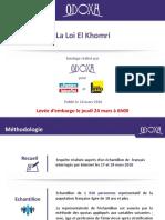 Sondage Odoxa Pour Le Parisien et France Info - La Loi El Khomri