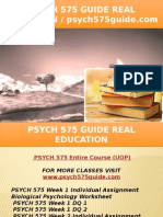 PSYCH 575 GUIDE Real Education - Psych575guide.com