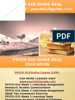 PSYCH 610 GUIDE Real Education - Psych610guide.com