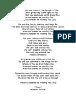 Hosanna Lyrics