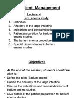 2015 PM Lecture 4 Barium Enema