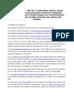 Décret n 2005-1991 Du 11 Juillet 2005 Etude d Impact Sur l Environnement