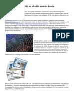 Importancia de HTML en el sitio web de dise