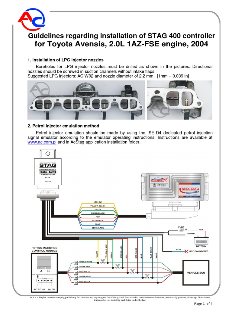 1az Fse Wiring Diagram Wire Diagrams Ecm 2003 Appendix Fse2 0 D4 Fuel Injection Machines Engine