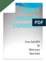 Anatomie Et Physiologie en ORL