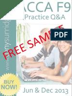 2013 Paper F9 QandA Sample