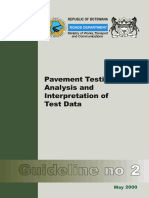 Botswana Manual on Pavement Testing