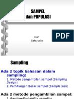Sampel (Metode Dan Besar Sampel)