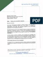 Lettre du maire de Chertsey au Ministre des forêts