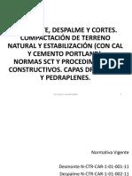 CURSO TERRACERIAS 2015 Tema 04 Desmonte Despalme Cortes