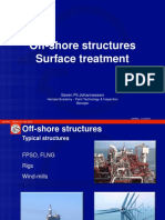Offshore structures surface treatment