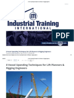 8 Vessel Upending Techniques for Lift Planners & Rigging Engineers