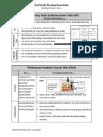 parent newsletter - first grade reading mp1 part 1