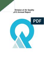 Utah Division of Air Quality Annual Report 2015
