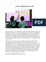the use of interactive whiteboards in the classroom