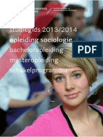 2013 2014 Sociologie Bachelor Master