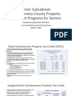 Senior Subcabinet:Montgomery County Property Tax Credit Programs for Seniors